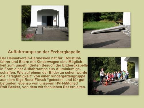 Auffahrrampe an der Erzbergkapelle