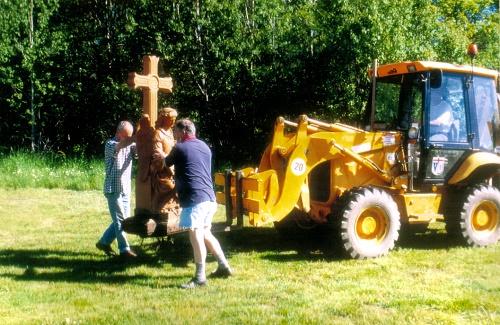 Der Engel an der Erzbergkapelle erhält seinen neuen Platz